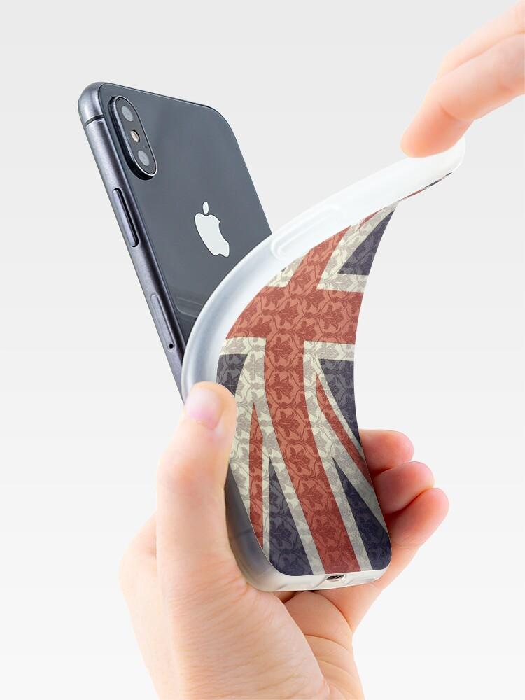 Alternative Ansicht von Union Flag/Sherlock wallpaper iPhone-Hülle & Cover