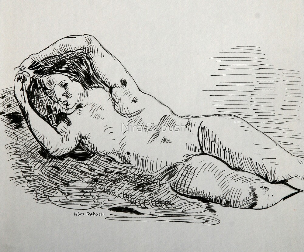 A Study after Delacroix by Nira Dabush