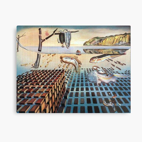 Salvador, Dali, surrealist. The Disintegration of the Persistence of Memory (1952-1954). Metal Print