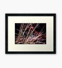 Wild Grasses Abstract Framed Print