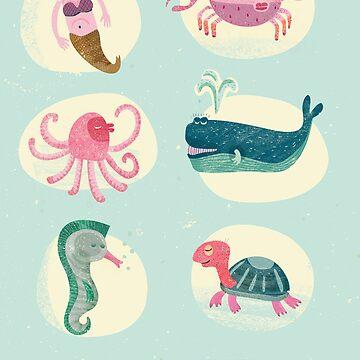 Sea creatures II by menulis