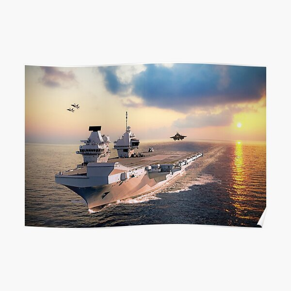 F-35s and HMS Queen Elizabeth Poster