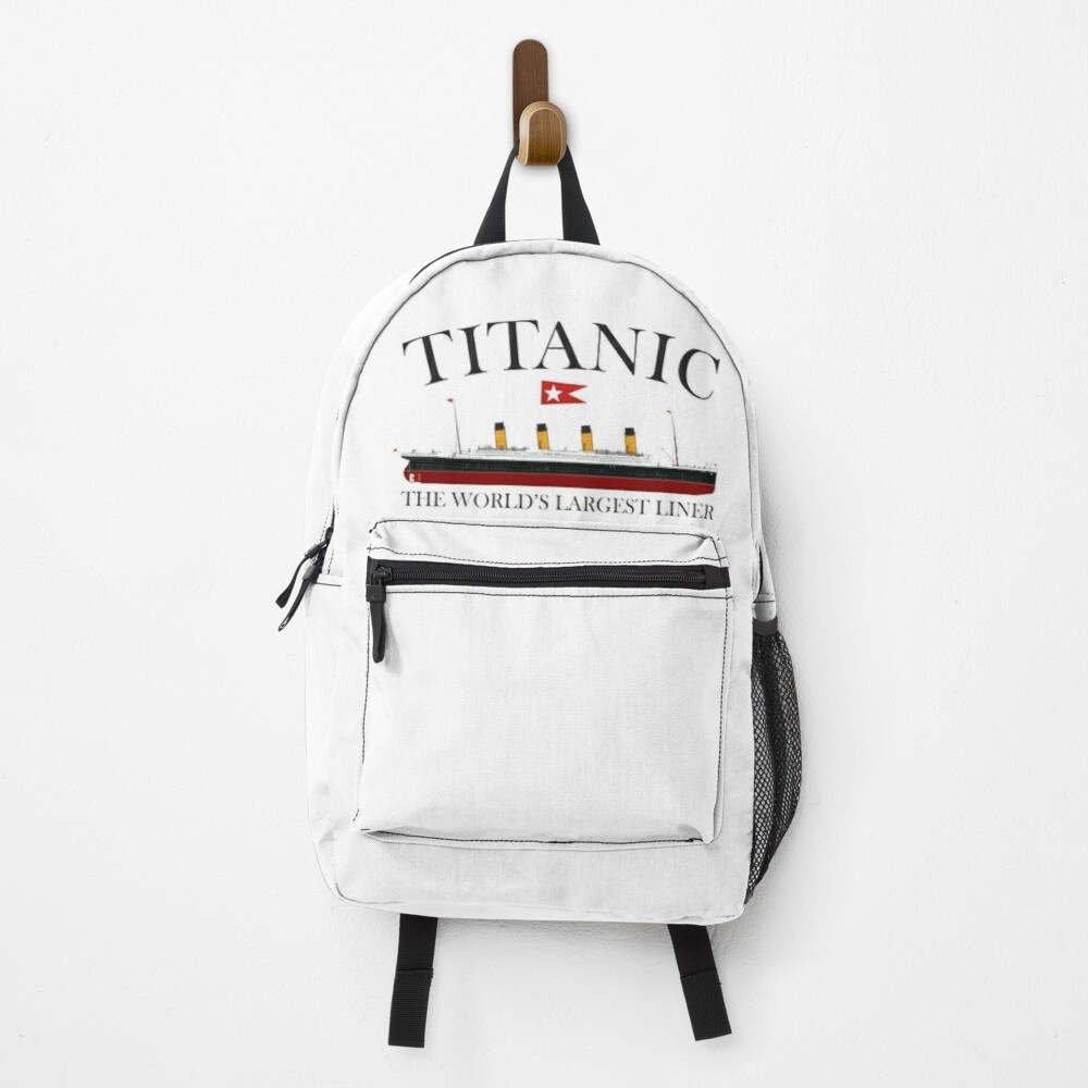 Titanic. 1912, RMS Titanic, Cruise, Ship, Disaster. Backpack