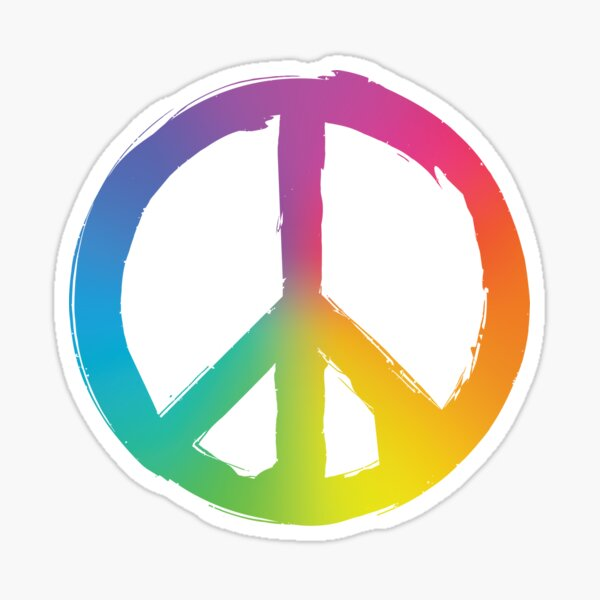 Peace and Pece Sign Sticker