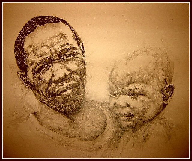 Father and son in sepia by thorald
