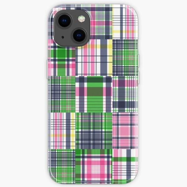 Summer Plaid Pink Madras Patchwork iPhone Soft Case