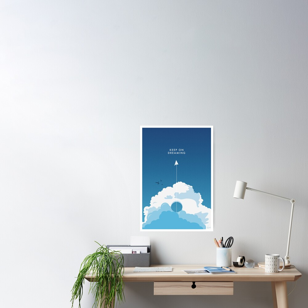 Poster «Keep On Dreaming - Flat Design Poster.»