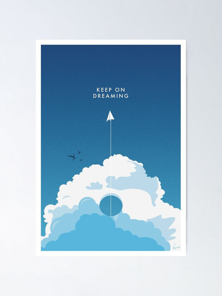Poster ''Keep On Dreaming - Flat Design Poster.': autre vue