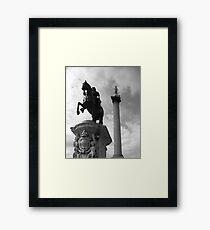 Nelsons Column, London Framed Print