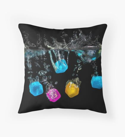 The Cubes Throw Pillow