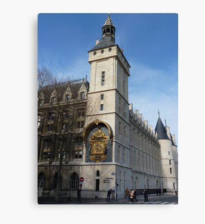 Conciergerie, Paris - Clock Tower Canvas Print