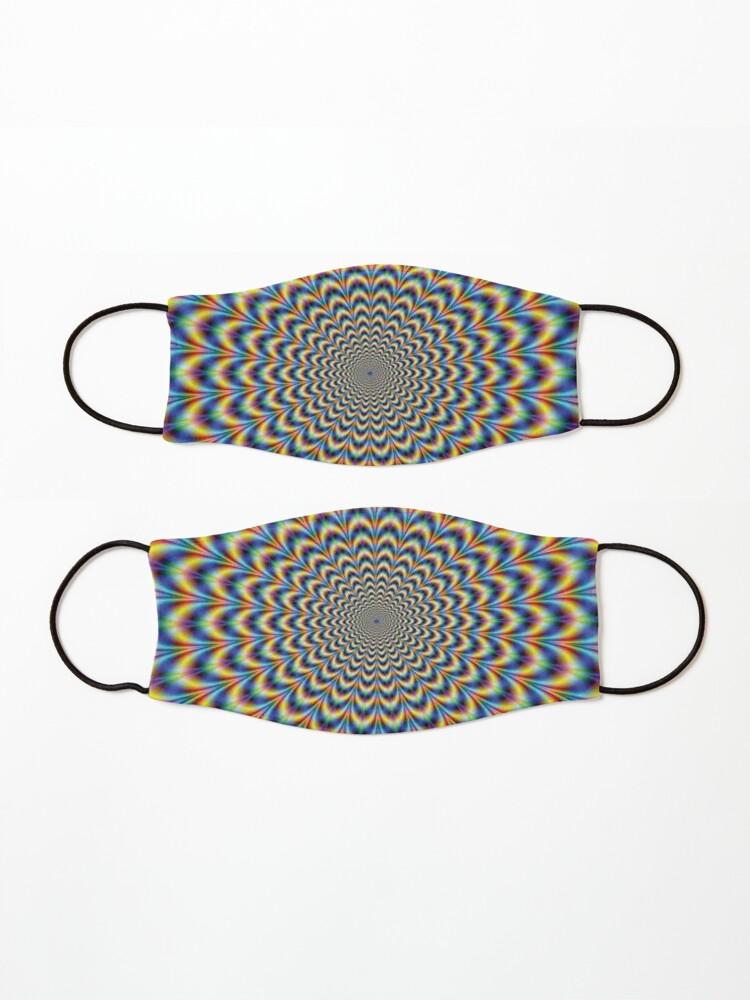 Alternate view of Optical illusion Trip Mask