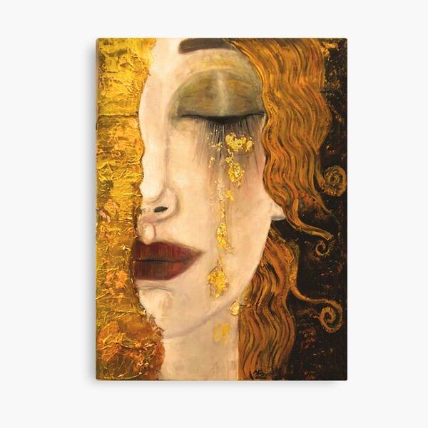 Golden Tears   Gustav Klimt  Freya    Art Nouveau Symbolism Canvas Print