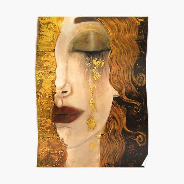 Golden Tears | Gustav Klimt |Freya  | Art Nouveau Symbolism Poster