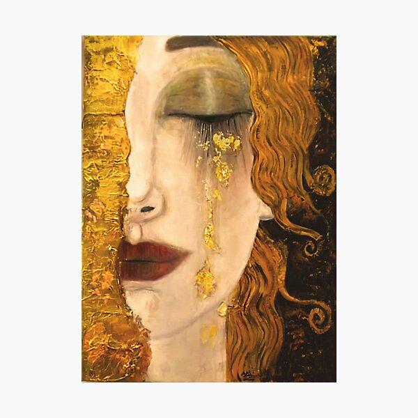 Golden Tears   Gustav Klimt  Freya    Art Nouveau Symbolism Photographic Print