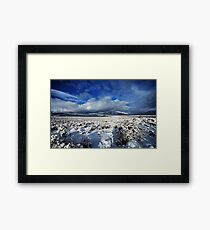 High Desert Snows Framed Print