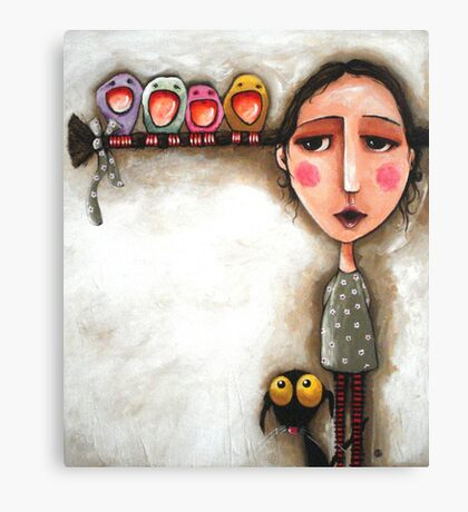 Me and my birds Canvas Print