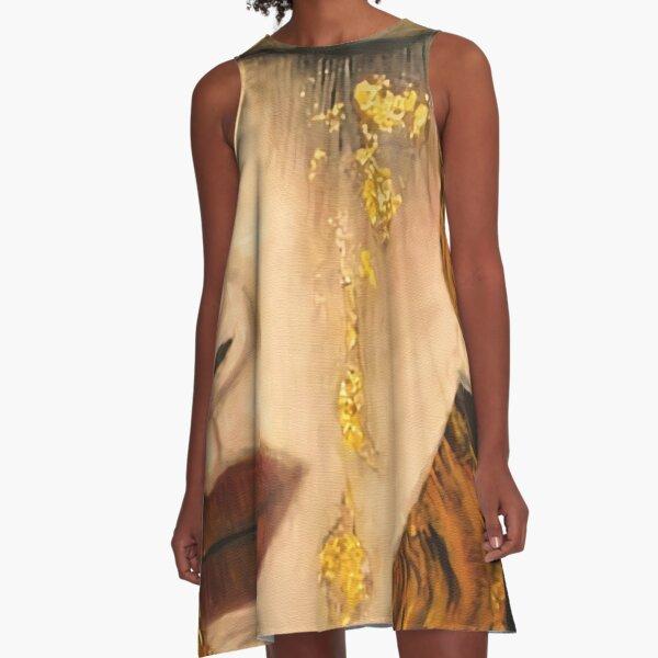 wird auch als Goldene Tränen bezeichnet A-Linien Kleid