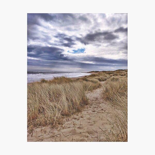 Moody coastline Photographic Print