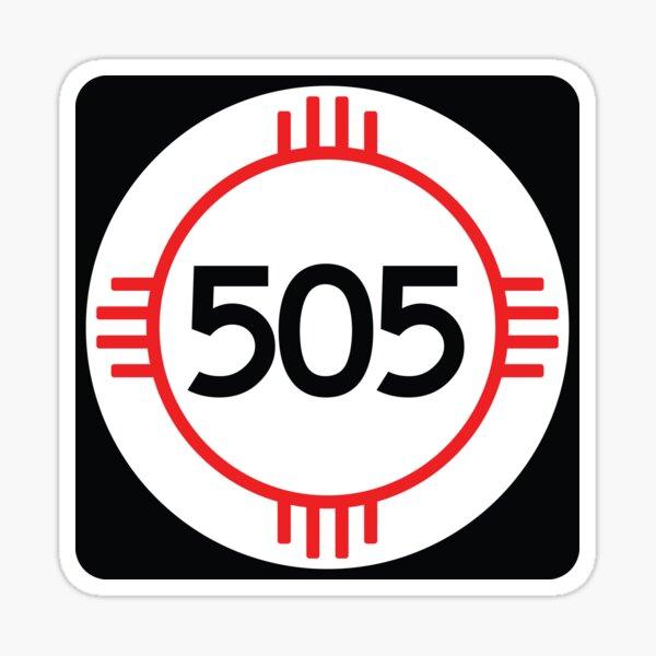 New Mexico State Route 505 (Area Code 505) Sticker