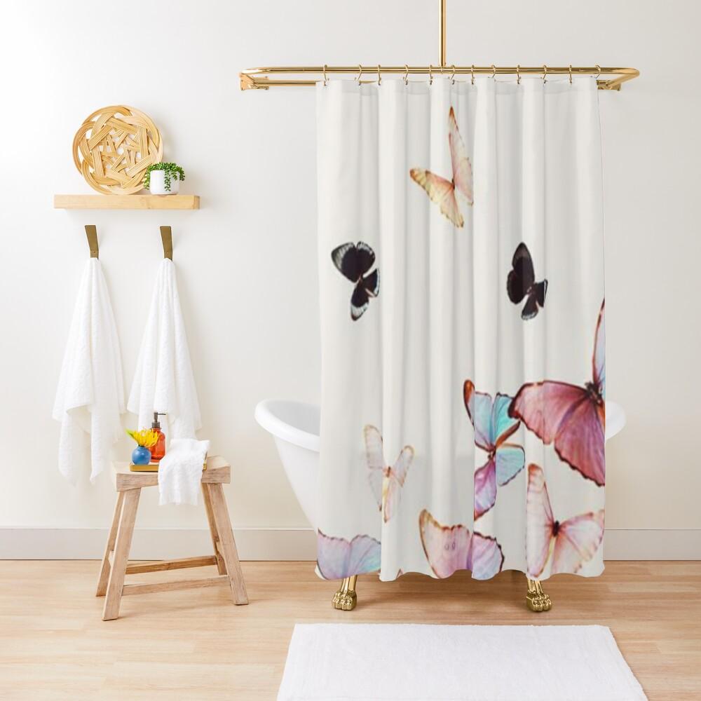 rideau de douche « butterfly » par medly  redbubble