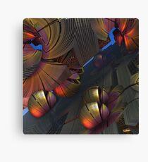 Metal Wonderland, 3-d abstract artwork Canvas Print