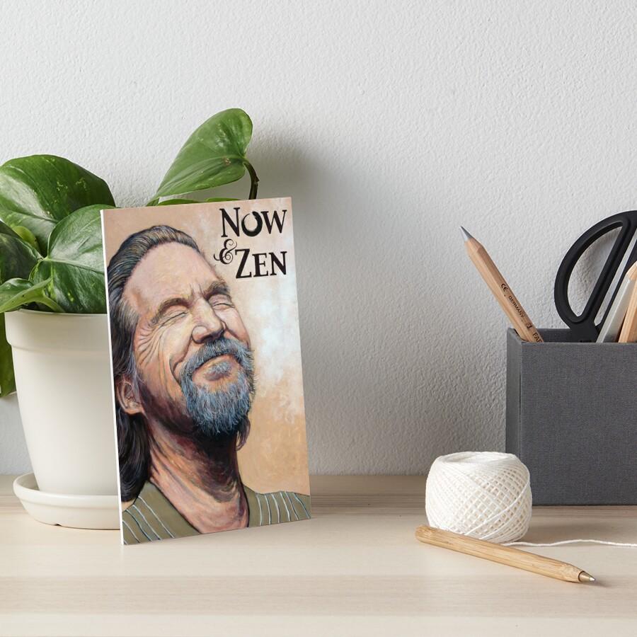 The Dude Now & Zen Art Board Print