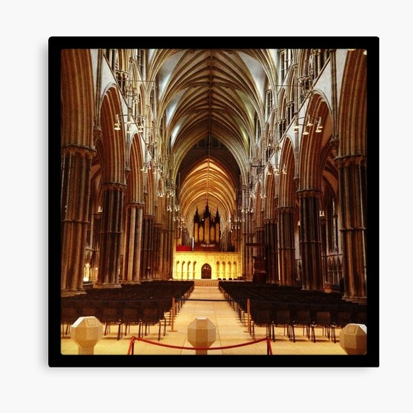 Inside Lincoln Minster Canvas Print