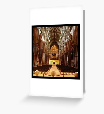 Inside Lincoln Minster Greeting Card