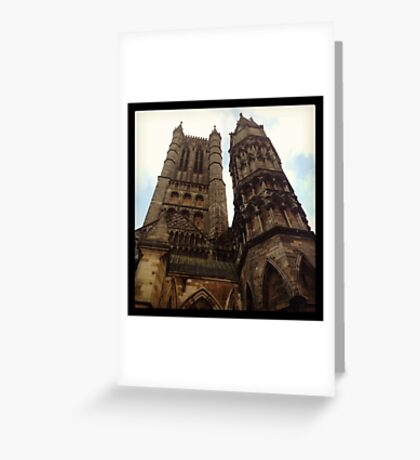 Towers, Lincoln Minster Greeting Card