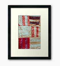 Aged Silk Quilt Framed Print