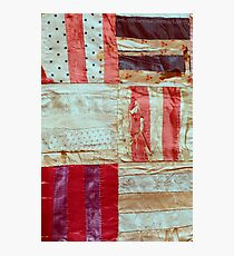 Aged Silk Quilt Photographic Print