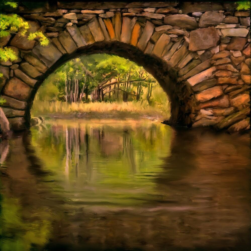 Stone Arch Bridge, Bristol Maine by Dave  Higgins