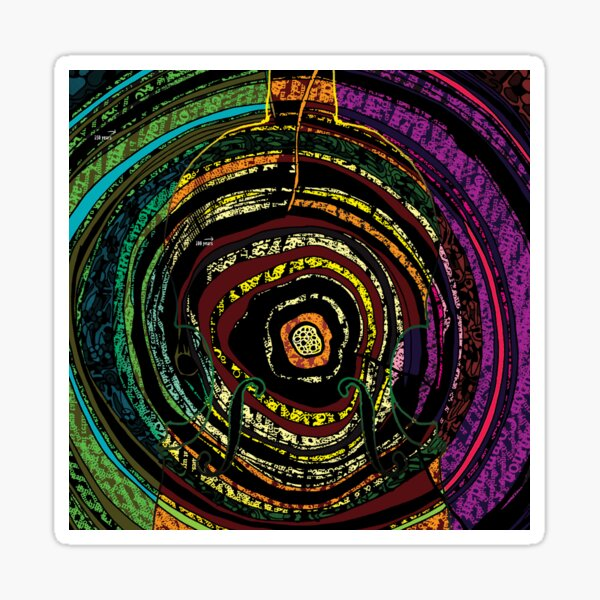 Tree Rings and Violins Sticker