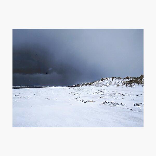 Snow on the sand dunes Photographic Print
