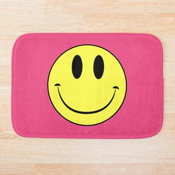 Classic Acid House Smiley Face Rave Culture Bath Mat