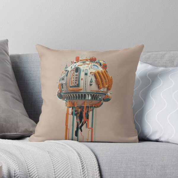 The watertower Throw Pillow
