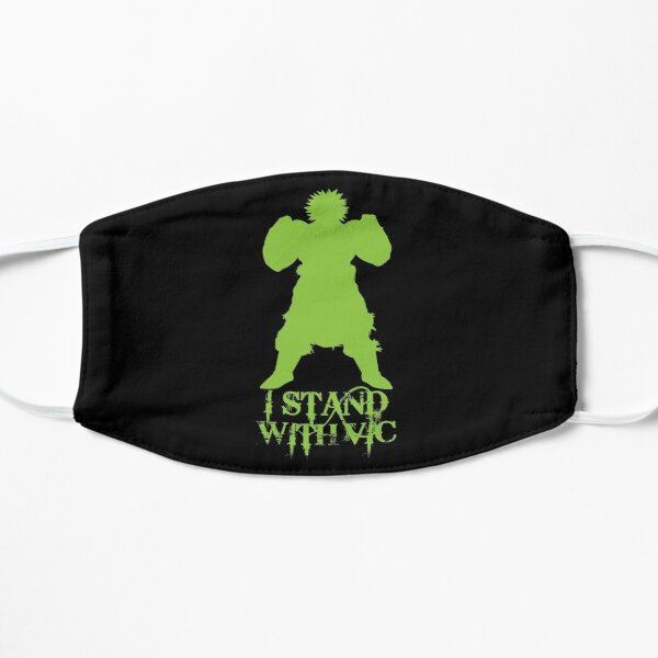 I Stand With Vic version 4 - Broly Silhouette #istandwithvic #vickicksback Flat Mask