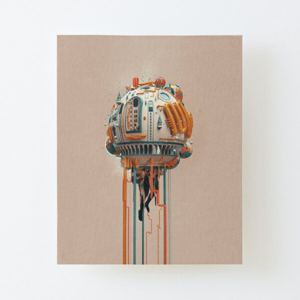 The watertower Canvas Mounted Print