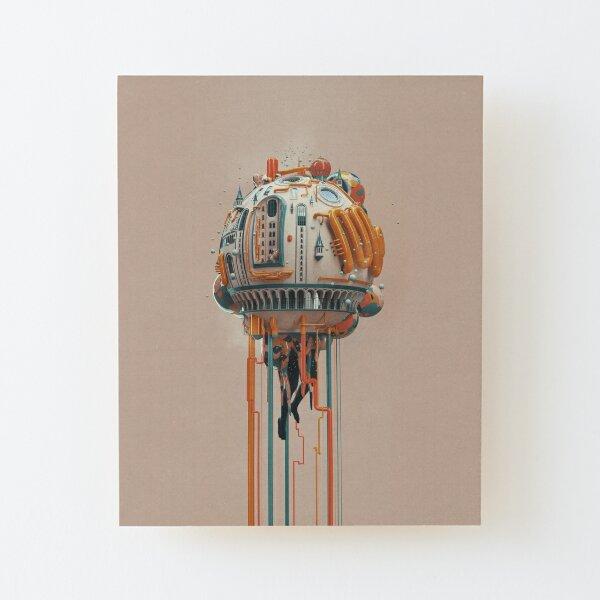 The watertower Wood Mounted Print