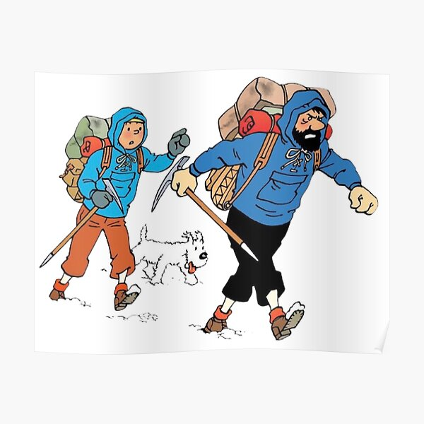 Tintin captain haddock and snowy Poster
