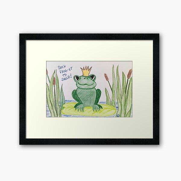 Don't FROG-get to Smile! Framed Art Print