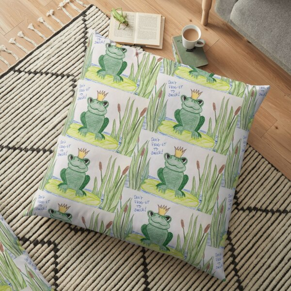 Don't FROG-get to Smile! Floor Pillow
