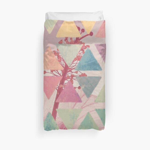 Gumamela Flower Abstract Duvet Cover