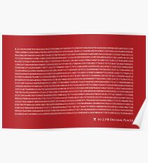 Pi to 2,198 decimal place Poster