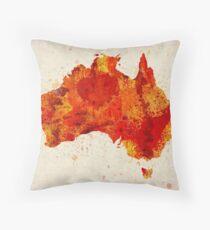 Australia Watercolor Map Art Print Throw Pillow