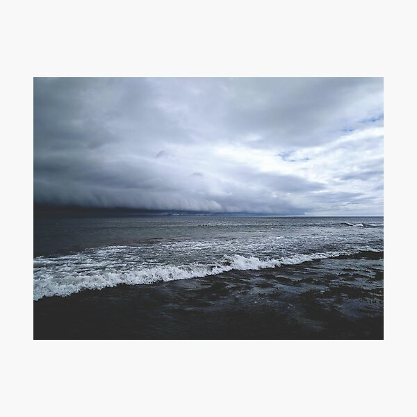Rolling storm on the sea Photographic Print