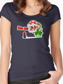 Feed me! Women's Fitted Scoop T-Shirt