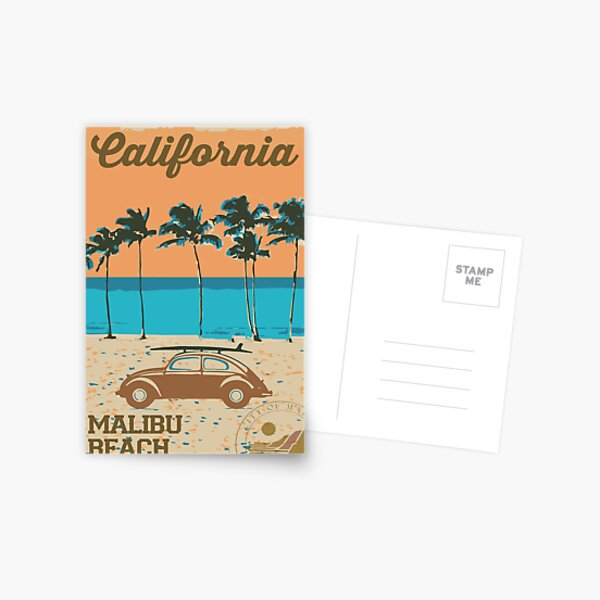 Malibu - California. Postcard