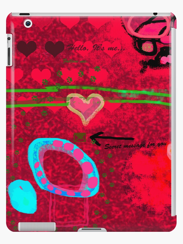 Message in the abstract picture by CatchyLittleArt